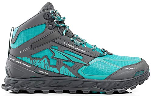 Altra Women's Lone Peak 4 Mid Mesh Trail Running Shoe, Teal/Gray - 5.5 B(M) US by Altra (Image #1)