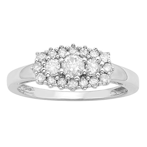 Sterling Silver 1/2ct TDW Diamond Cluster Fashion Ring (H-I, I3)