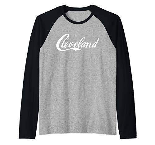 - Cleveland Ohio T Shirt OH Gifts Raglan Baseball Tee