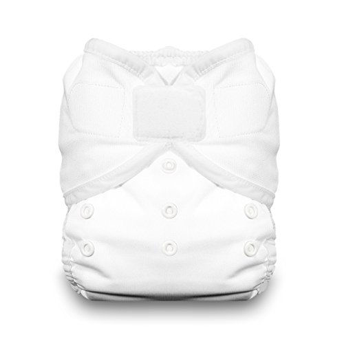 Thirsties Duo Wrap Cloth Diaper Cover, Hook and Loop Closure, White Size Two (18-40 lbs)