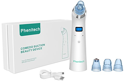 Blackhead Vacuum Remover Suction for Face Pore and Comedone Extractor with Microdermabrasion and Skin Peeling Machine Function by Phenitech