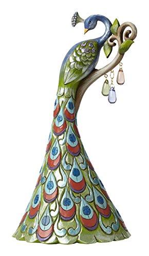 Enesco 4051431 Jim Shore Heartwood Creek Spring Wonderland Peacock Figurine