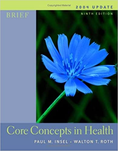 Core Concepts in Health: With Powerweb