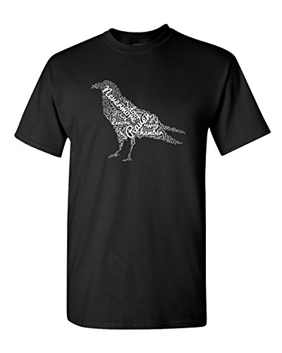 The Raven Edgar Allen Poe Poem Tee English Teacher Poetry Bird Quote Graphic Adult Mens T-Shirt -