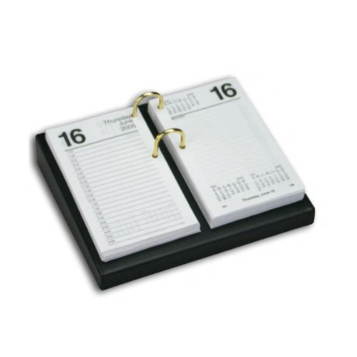 1000 Series Classic Leather 4.5 x 8 Calendar Holder Base in Black by Dacasso (Image #1)