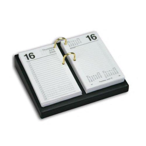 1000 Series Classic Leather 4.5 x 8 Calendar Holder Base in Black