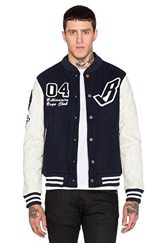 Billionaire Boys Club Jacket (Billionaire Boys Club B Jacket Navy Blazer Off White Sleeves Men's Jacket (Large))