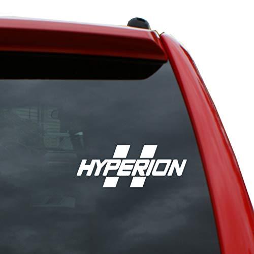 Black Heart Decals & More Borderlands - Hyperion Vinyl Decal Sticker | Color: White | 1.9
