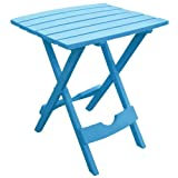 Adams Manufacturing 8500-21-3700 Quik-Fold Side Table, Pool Blue