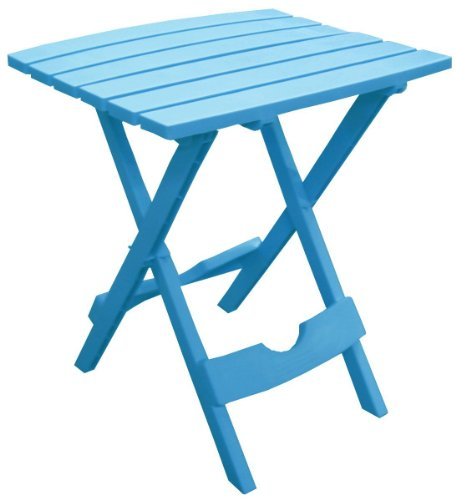 Adams Manufacturing 8500-21-3700 Plastic Quik-Fold Side Table, Pool Blue (Plastic Outdoor Chair)