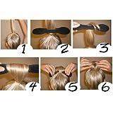 Haar Twister Schwamm Schwarz Frisurenhilfe Band Dutt Style Haartwister + 10 Haarnadeln + 10 schwarze elastische von Boolavard ® TM