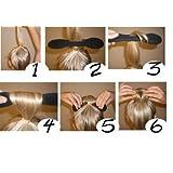 Sponge Bun Hair Donut Twister maker former foam tools + 10 elastics + 10 hairpins by Boolavard ® TM