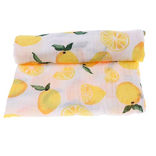 - SM SunniMix Newborn Receiving Blanket Swaddle Blankets Baby Sleeping Wrap Infant Toddlers Bath Towel for Babies 0-3 Months - Lemon, as described
