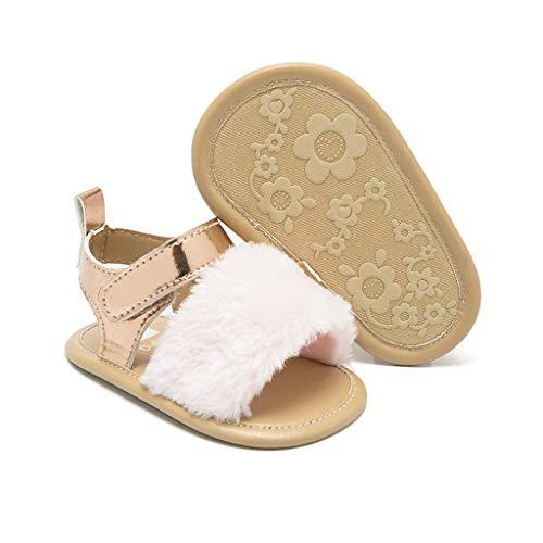 Dinosaur Shoes for Toddler Boys,Newborn Infant Baby Boys Girls Crib Prewalker Soft Sole Anti-Slip Shoes Sandals,Girls' Sandals,Pink,6-12M (Shoes Converse Lace Up Crib)