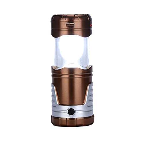 Solar Telescopic LED Camping Light - WinCret Outdoor Multi-functional Collapsible Tent Lamp Rechargeable Flashlight Portable Remote Hanging Lantern