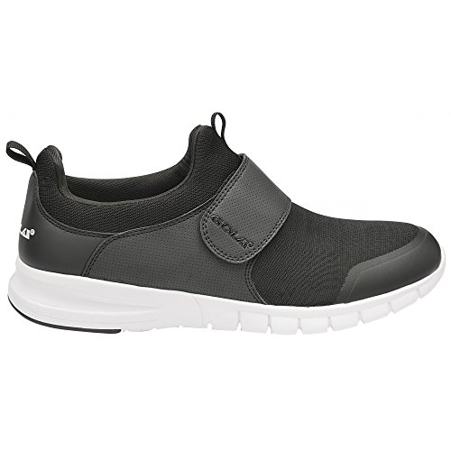 Gola Mens Lupus Kontakt Fäst Sneakers Svart / Vit