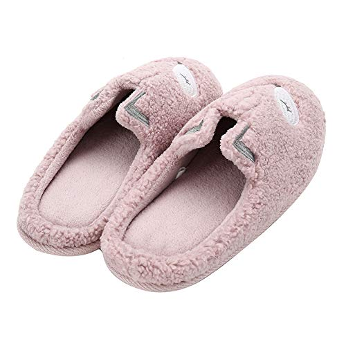House Clog 1 Women's Pink Home Fleece Memory Foam Slippers Cute Slippers On Plush Animal Slippers Slip Soft 7rqOU7aw