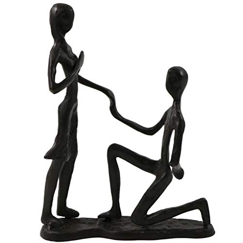 - Passionate Propose Marriage Sculpture Art Iron Statue Romantic Metal Ornament Couple Figurine Home and Office Decor (A6 Propose)