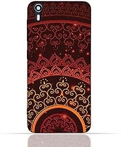 HTC DESIRE EYE TPU Silicone Case With Colorful Henna Mandala Design