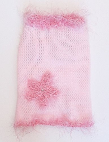 Pink Dog Sweater Small Dog Clothes for Girls Puppy Clothing Female Pet Apparel Outfits for Dogs XXXS