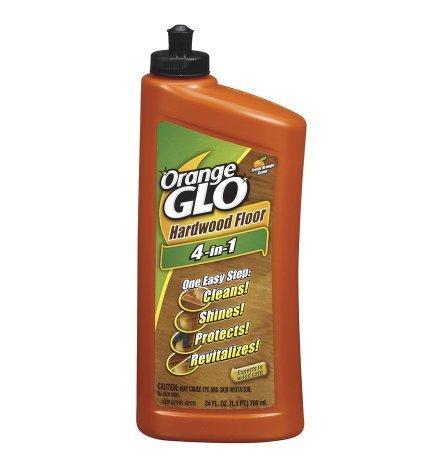 Fresh! Orange Glo Hardwood Floor 4-in-1 One Easy Step Cleaner Fresh Orange Scent24.0 fl oz(4pk)