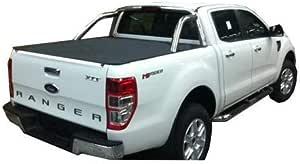 Tuff Tonneaus 10978 Ford PX Ranger Dual Cab Genuine No Drill Clip On Tonneau Cover (Suits Factory Sports Bars)