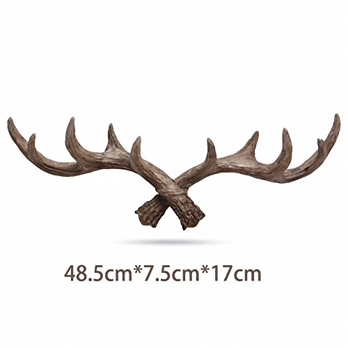 Deer Antlers Wall Mount Hanger Animal Shaped Coat Hat Hook Heavy Duty, Hanging Wall Sculpture Home Decor Decorative Gift