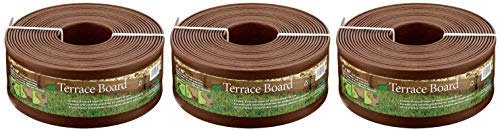 - Master Mark Plastics 95340 Terrace Board Landscape Edging Coil, 5-inch x 40-Foot, Brown (Pack of 3)
