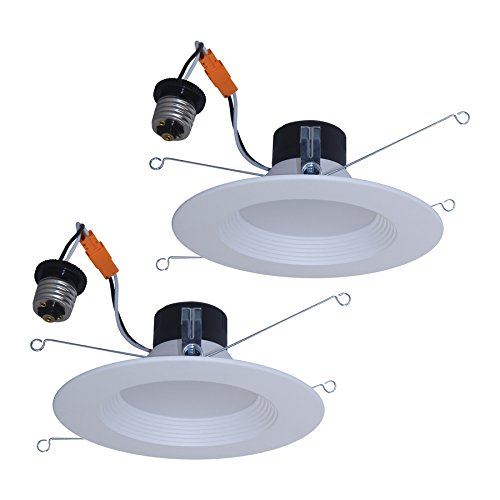 (Utilitech 2-Pack 65-Watt Equivalent White Dimmable LED Recessed Retrofit Downlights (Fits Housing Diameter: 5-in or 6-in))