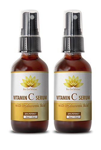 Serum skin face - VITAMIN C SERUM With Hyaluronic Acid - Reduce dark circles under eyes - 2 bottles by SKIN CARE SOLUTIONS