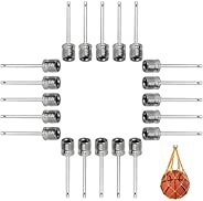 Ball Pump Needle (20 Pack) Made with Stainless Steel Ideal for Blowing Up Football, Basketball, Soccer, Volley