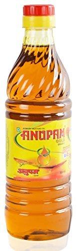 ANUPAM GOLD Mustard Oil Kachi Ghani 16.9 Oz / 500 ml Mustard Oil for Cooking Massage Hair