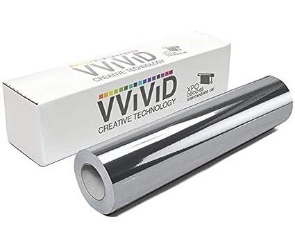 1 Roll Silver Crome vinyl Plotter Cutter 12 inches x 50 ft  Plotter Sign sticker
