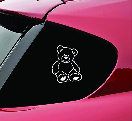 teddy bear window decal - 2