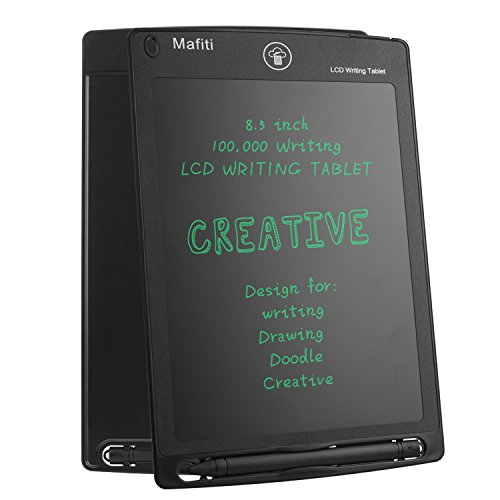 Doodle Pad Magnetic LCD Writing Tablet - Mafiti 8.5 Inch Electronic Graphic Drawing Board Portable eWriter gifts for Kids Home Message Office Memo Whiteboard Black