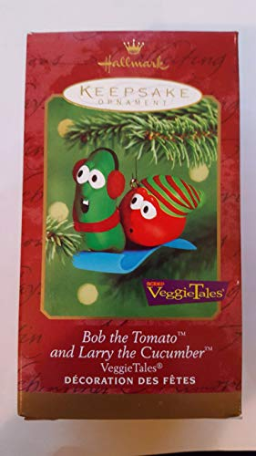 VeggieTales - Bob the Tomato and Larry the Cucumber 2000 Hallmark Keepsake Christmas Ornament