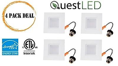"Quest 4"" Square LED Downlight 120V, 10W, 650 Lumens, Energy Star"