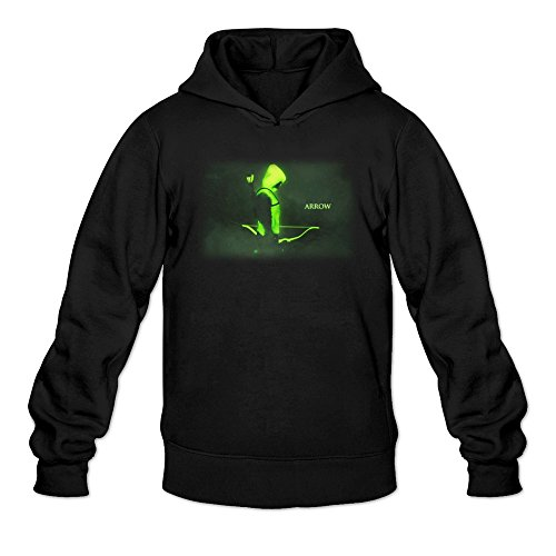 Green Arrow Tv Series Logo Hoodies Sweatshirt Black For Men