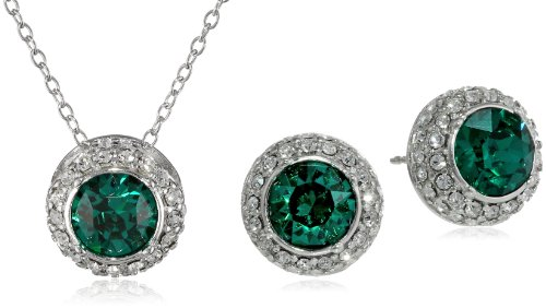 Butterfly Green Swarovski Elements Crystal Pendant Necklace