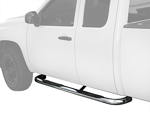"MaxMate Custom Fit 1999-2018 CHEVY SILVERADO/GMC SIERRA 1500/2500LD, 01-13 CHEVY SILVERADO/GMC SIERRA 2500HD/3500 Extended/Double Cab Stainless Steel 3"" Side Step Rails Nerf Bars Running Boards"