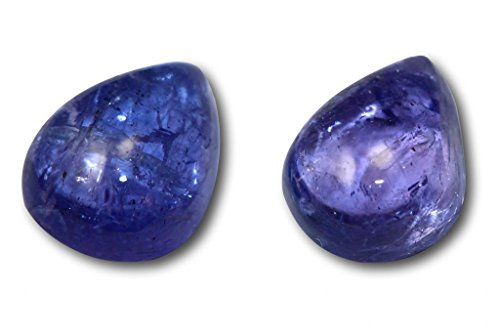 Tanzanite véritable en paire 4,37 carats 8,8 x 7,2 x 4,2 & 8,7 x 7,0 x 4,1 mm
