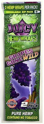 Juicy Pure Hemp Wraps - 2 Wraps Per Pack - 1 Pack (Grapes Gone Wild)