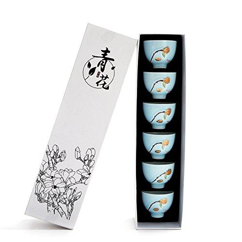 online barato H TIANLIANG04 Tazas Tazas de café café café Taza De Té De Cerámica Copa De Sombrero De Copa De oro Té Kung Fu Masters Cup,H En Caja De Regalo  productos creativos
