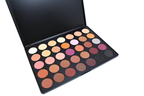 Morphe Pro 35 Color Eyeshadow Palette Matte 35N - Professional makeup powder palette with intense pigment