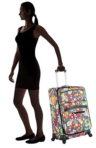 """Lily Bloom Midsize 24"""" Expandable Design Pattern Luggage With Spinner Wheels For Woman (24in, Bliss)"""