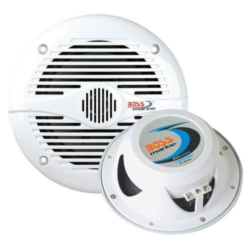 Boss Audio Mr60w 6.5'' Round Marine Speakers - (Pair) White