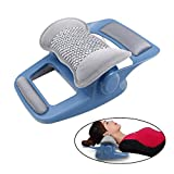 Electric Cervical Traction Device Treatment Instrument, Home Vibration Pillow Hot Compress Therapy + Music, Neck Correction, Curvature Stretching