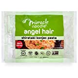 Miracle Noodle Zero Carb, Gluten Free Shirataki Pasta, Angel Hair, 7-Ounce, 6 Count