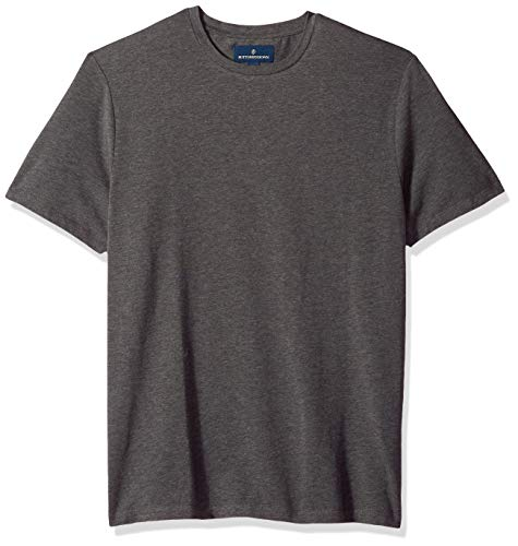 (BUTTONED DOWN Men's Short-Sleeve Crew Neck Supima Cotton Stretch T-Shirt, Charcoal Heather, XX-Large)