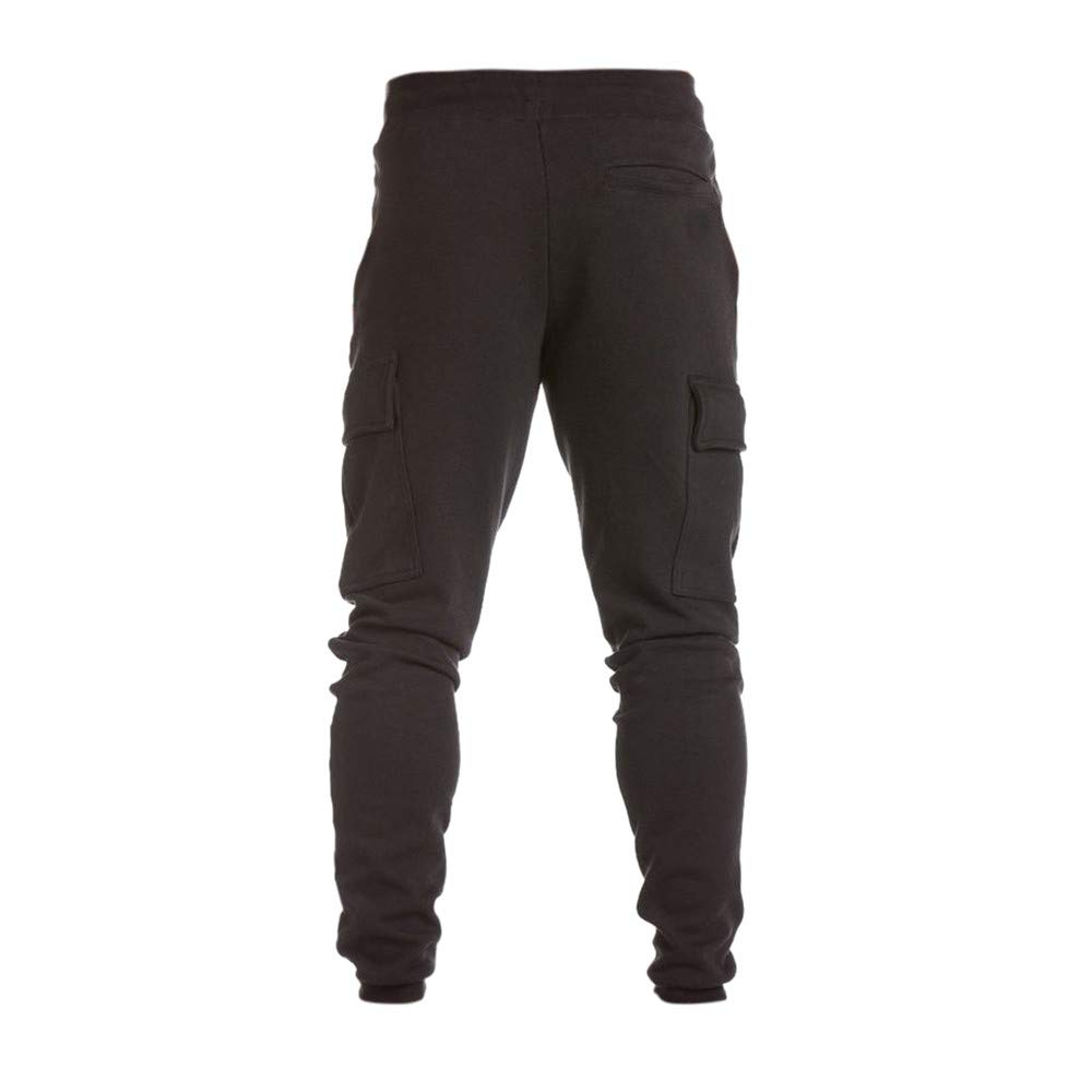 Sunhusing Mens Casual Harem Sweatpants Lace-Up Trousers Personalized Side Pockets Baggy Jogger Pants